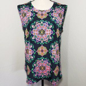 J.Crew Sleeveless Floral Print Blouse Top S